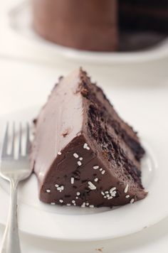 Dark Chocolate Cake with Malted Chocolate Frosting - The Cake Merchant