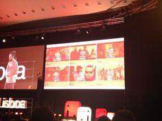 """Cidade Invisível que produz e cria é muito maior do que pretende a mainstream, alerta António Brito Guterres dando o exemplo da música oriunda dos """"tais bairros"""" prioritários #TEDxLisboa #ElefantenaSala"""