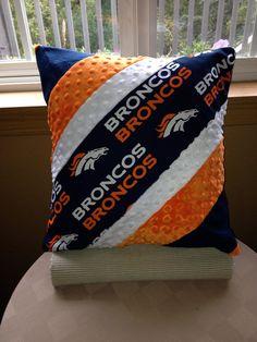 Denver Bronco pillow on Etsy, $36.00 (inspiration only)