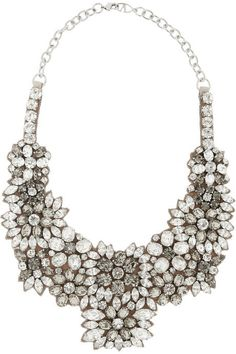 Valentino Romantic Flowers crystal and satin bib necklace on shopstyle.com
