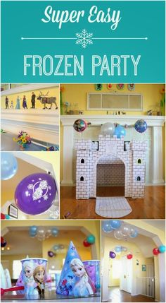 Easy Frozen Party (on a Budget): ideas for decorations, activities, and food!