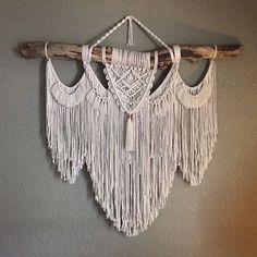 Large Macrame Wall Hanging on Driftwood Branch