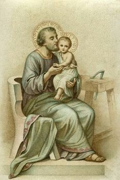 Saint Joseph, faithful guardian of the Divine Treasure. Catholic Books, Catholic Saints, Religious Images, Religious Art, Catholic Pictures, Vintage Holy Cards, Mary And Jesus, Madonna And Child, Prayer Cards
