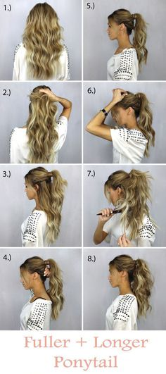 Want Fuller looking Ponytail? Try these steps to achieve the perfect Ponytail look.