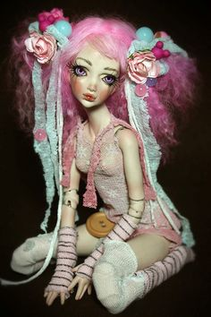 One of a Kind Porcelain BJD Ball Jointed Dolls by www.ForgottenHearts.com