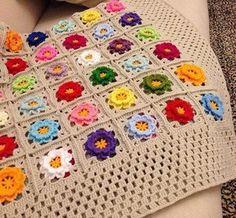 Crochet Pillow Pattern, Crochet Cushions, Crochet Quilt, Crochet Box, Crochet Squares, Crochet Motif, Crochet Patterns, Hand Embroidery Tutorial, Cloth Pads