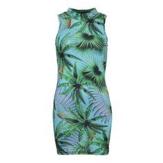 Bill+Mar Jungle Mini Sleeveless Dress Multi ($70) ❤ liked on Polyvore