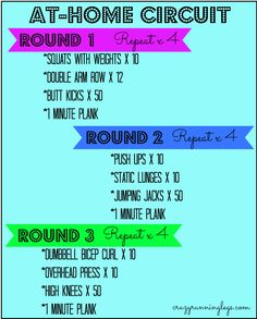 At Home Circuit Workout (with just dumbbells!)
