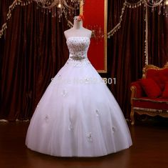New 2014 Up To Date High Grade Peacock Feathers To Drill The Princess'S Wedding Dress The Bride Wedding Dress Wedding Gowns 219 Cheap Wedding Dress Cheap Wedding Dresses Online From Aa997123449, $122.52| Dhgate.Com