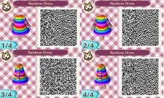 Rainbow Dress QR Code by Bjnix248