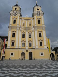 Mondsee Cathedral in Austria (where they filmed the wedding scene for the film 'Sound of Music)
