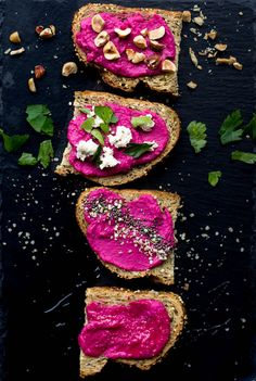 Pink Dip (Vegan White Bean Beet Dip): A beautiful, tasty dip that's healthy and perfect for snacking! Naturally gluten free and vegan. || fooduzzi.com recipe #beet #hummus #vegan