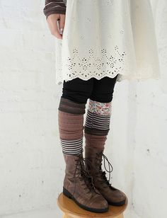 patchwork socks :: @Sarah Chintomby Reece this has you written all over it...