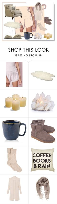 """CoffeeBooks&Rain"" by memerlipopette ❤ liked on Polyvore featuring Post-It, UGG Australia, Frontgate, Juliska, UGG and Chan Luu"