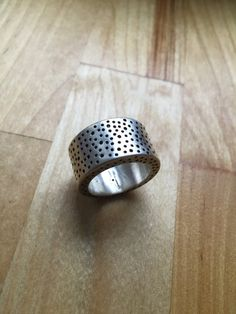 Sterling silver hollow constructed chunky by LisaColbyMetalsmith