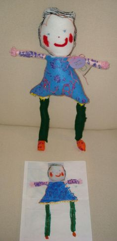 Dolls from drawings
