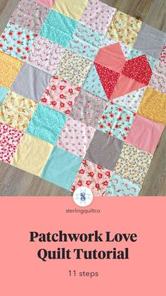 Contemporary Improv Quilt Cotton and Linen Machine Stitched Lap Quilt Homemade Baby Quilt Free Form Crib Quilt