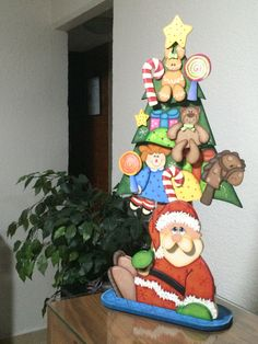Arbolito Navideño. Madera Country Christmas Wood Crafts, Christmas Sewing, Country Christmas, All Things Christmas, Christmas Holidays, Christmas Decorations, Christmas Ornaments, Christmas Ideas, Merry Christmas