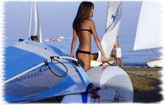 spiaggia di Riccione con ospiti