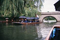 Cambridge, England.  Fall 1999.   Punting!