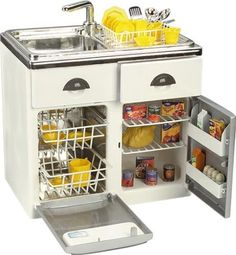 Pretend Play Toy Product: Toy Sink, Dishwasher and Refrigerator Kitchen Set Play Kitchens, Kids Play Kitchen, Toy Kitchen, Kitchen Sets, Little Girl Toys, Baby Girl Toys, Toys For Girls, Accessoires Lps, American Girl Doll Sets
