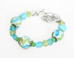 Turquoise Bead Bracelet Green Bracelet Turquoise by Lottieoflondon
