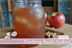 Cranberry + Apple Cider Cocktail