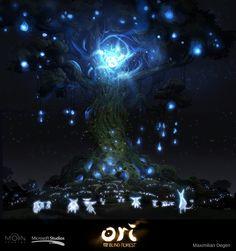 Ori and the Blind Forest by Maximilian Degen Game Environment, Environment Concept Art, Environment Design, Maximilian, Forest Art, Dark Forest, Fanart, Game Concept Art, Artist Portfolio