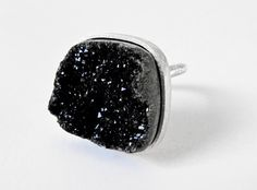 black quartz ring