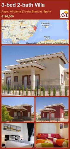 3-bed 2-bath Villa in Aspe, Alicante (Costa Blanca), Spain ►€190,000 #PropertyForSaleInSpain