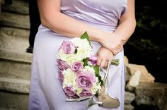 Lavender (light purple) wedding in the canadian rockies
