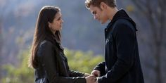 Picture: Nina Dobrev and Paul Wesley in 'The Vampire Diaries.' Pic is in a photo gallery for Paul Wesley featuring 143 pictures. Vampire Diaries Wallpaper, Vampire Diaries Cast, Vampire Diaries The Originals, Stefan E Elena, Damon And Stefan, Joseph Morgan, The Cw, Chaos Walking, Afraid To Lose You