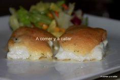 A comer y a callar: MERLUZA AL HORNO CON GAMBAS Y JAMON GRATINADA CON ALI OLI