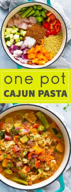 This One Pot Healthy Cajun Chicken Orzo is ready in 30 minutes!