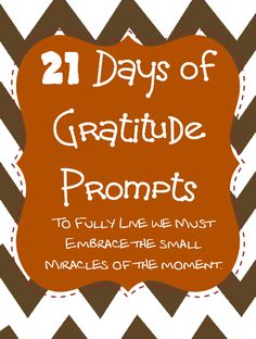 21 Days of Gratitude Printable Prompts #spon