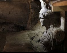 #Tomb #Amphipolis #Greece #Archaeology #caryatid http://www.greeknewsagenda.gr/2014/09/caryatids-unearthed-in-amphipolis.html