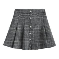 Pleated Button Up Tweed Skirt ($30) ❤ liked on Polyvore featuring skirts, checkered skirt, tweed skirt, checkerboard skirt, checked skirt and button up skirt
