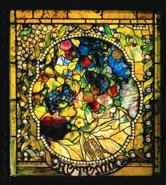 Louis Comfort Tiffany.    His glass pieces are stunning.  This is one panel from his Four Seasons windows.
