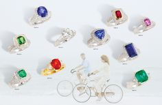 Designs by Rego, Gems of Distinction for the sophisticated lady. Color Stone Collection