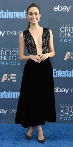 All the Glam Red Carpet Looks from the Critics' Choice Awards - Emmy Rossum from InStyle.com