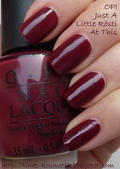 Tines Kosmetikblog: OPI Just A Little Rösti At This + Seche Ultra-V Top Coat Test