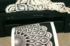 photocopied doilies... Sweet on Paper: Paper Bias Tape Bags | Prudent Baby