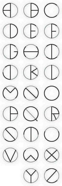 Circle Typeface by Oscar Lopes, via Behance - lettering, alphabet, letters, writing Alphabet Code, Alphabet Letters, Alphabet Fonts, Spanish Alphabet, Letter Tracing, Preschool Alphabet, Alphabet Crafts, Schrift Design, Calligraphy Fonts