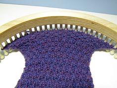 loom knit Granite stitch by telaine