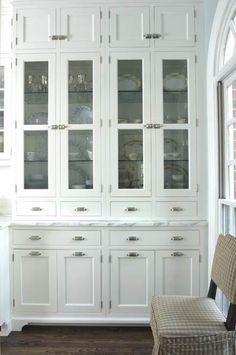 Built-In Hutch with Glass Doors beyond adore this built in for pottery in kitchen