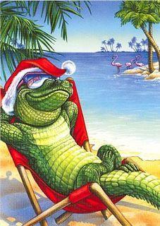 an alligators christmas - Florida Christmas