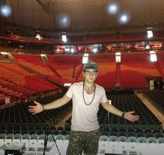 Piero Barone standing on the stage of the American Airlines Arena, FL 9/21/2013