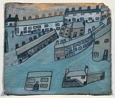 Alfred Wallis, 'Houses at St Ives, Cornwall' ?c.1928-42