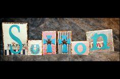 Wedding name blocks