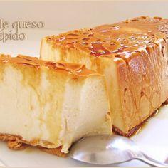 Flan de queso rápido (sin horno)